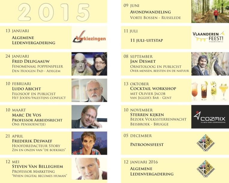 Jaarprogramma 2015